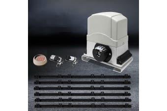 LockMaster Automatic Electric Sliding Gate Opener 1200KG Keypad Remote Rail Hardware Kit 6M