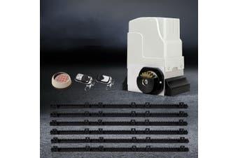 LockMaster Automatic Electric Sliding Gate Opener 1800KG Keypad Remote Rail Hardware Kit 6M