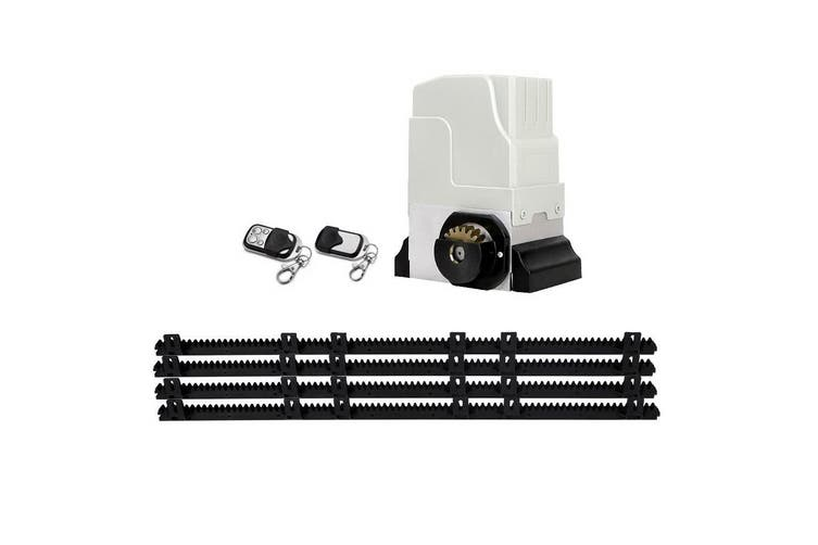 LockMaster Automatic Electric Sliding Gate Opener 1800KG Motor Keypad Remote Rail Hardware Kit 4M