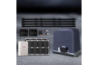 LockMaster Automatic 40w Solar Powered Electric Sliding Gate Opener 1200kg 4M Rail Remote Control Hardware Kit