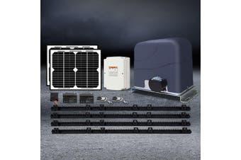 LockMaster Automatic Solar Powered  Electric Sliding Gate Opener 1200kg 4M Rail Length Remote Control Hardware Kit