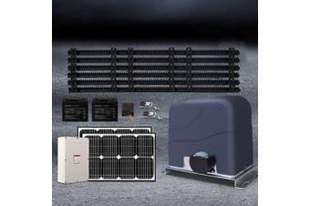 LockMaster Automatic 40w  Solar Powered Electric Sliding Gate Opener 1200kg 6M Rail Remote Control Hardware Kit