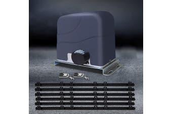 LockMaster Automatic Electric Sliding Gate Opener 1200kg 6M Length Remote Control Rail Hardware Kit