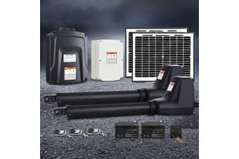 LockMaster Swing Gate Opener Auto 20W Solar Power Electric Remote Control 1000KG