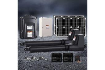 LockMaster Swing Gate Opener Auto 40W Solar Power Electric Remote Control 1000KG