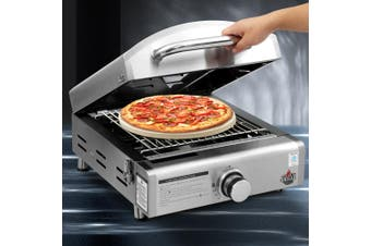 Grillz Portable Gas Oven BBQ Grill Pizza Stove Stainless Steel Outdoor Camping