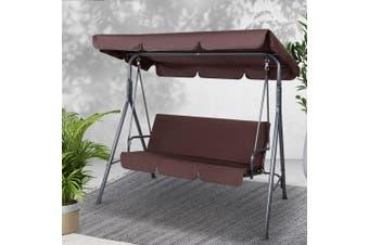 Gardeon Outdoor Swing Chair Hammock Garden Canopy Bench 3 Seater Furniture