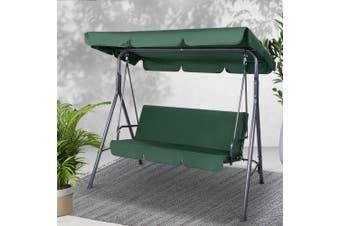 Gardeon Outdoor Swing Chair Hammock 3 Seater Garden Canopy Bench 3 Seater