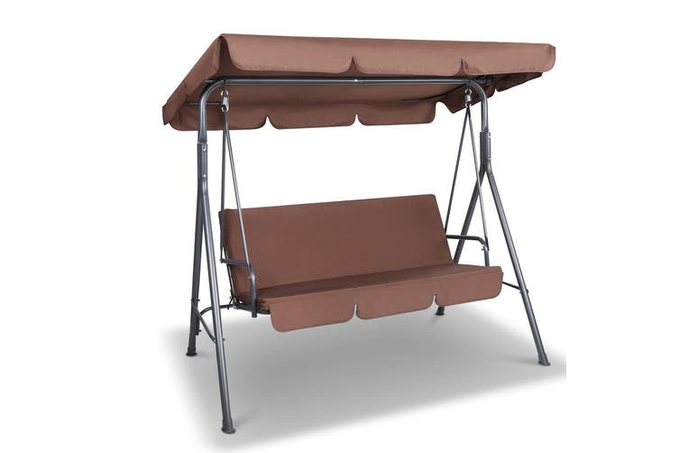 Gardeon Outdoor Swing Chair Hammock 3 Seater Garden Canopy Bench Seat