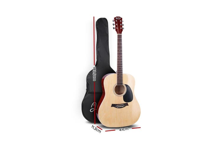 Alpha 41 Inch Acoustic Guitar Classical Wooden Folk Steel String Nature