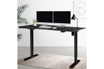 Artiss Standing Desk Sit Stand Table Height Adjustable Motoroised Electric Computer Laptop Home Office Workstation Studio 140cm Curved Roskos I Black