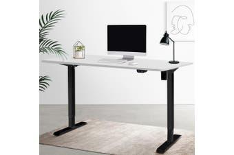 Artiss Motorised Electric Height Adjustable Standing Desk Computer Black White