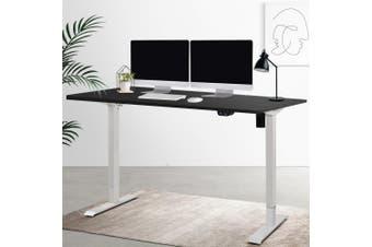 Artiss Motorised Electric Height Adjustable Standing Desk Computer White Black