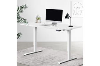 Artiss Standing Desk Sit Stand Table Riser Motorised Height Adjustable Computer Laptop Desks Stand 120cm White