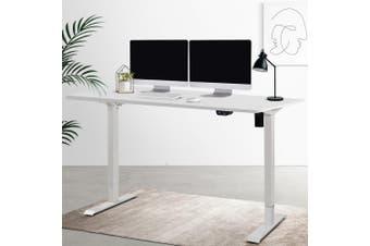 Artiss Motorised Electric Height Adjustable Standing Desk Computer White