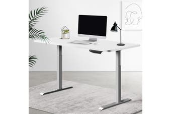 Artiss Sit Stand Standing Desk Motorised Electric Adjustable Laptop Computer Table Dual Motors 140cm