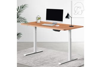 Artiss Standing Desk Sit Stand Riser Motorised Electric Computer Laptop Table Home Office Dual Motor 120cm
