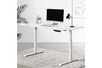 Artiss Sit Stand Desk Motorised Electric Computer Laptop Table Riser Office Dual Motor 120cm White
