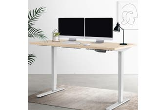 Artiss Height Adjustable Standing Desk Laptop Office Sit Stand Table Dual Motor