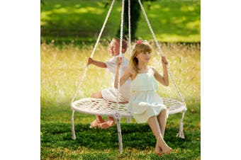 Gardeon Kids Nest Swing Hammock Chair 100cm Large Web Seat Outdoor Spider