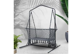 Outdoor Swing Hammock Chair w/ Stand Frame 2 Seater Bench Furniture