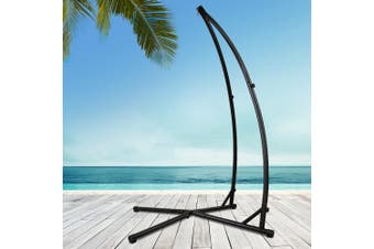 Gardeon Double Hammock Chair Stand Steel Frame Outdoor Heavy Duty 2 Person
