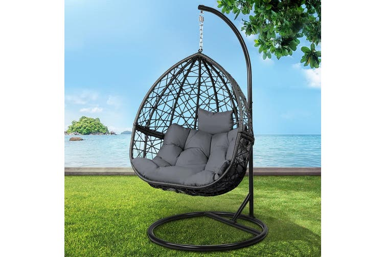 Dick Smith Gardeon Outdoor Furniture Egg Hammock Hanging Swing Chair Wicker Lounge Patio Chairs Swings Benches Home Garden Yard Garden Outdoor Living