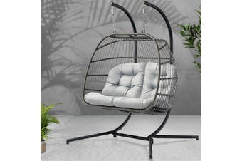 Gardeon Outdoor Furniture Hanging Swing Chair Egg Hammock Wicker 2 Person