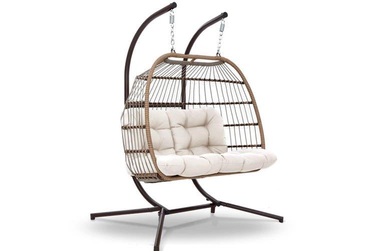 Mid Century Rattan Chair, Gardeon Outdoor Furniture Hanging Swing Chair Stand Egg Hammock Wicker Kogan Com