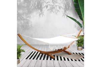 Gardeon  Double Bed Outdoor Furniture Garden Hammock Bed Tassel Lounge