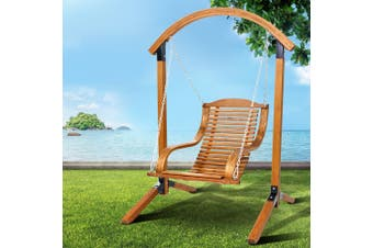 Gardeon  Outdoor Furniture Timber Hammock Chair Wooden Patio Swing Lounge