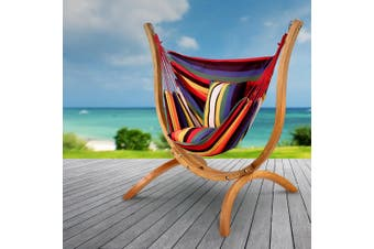 Gardeon  Outdoor Furniture Swing Hammock Chair Pillow Patio Seat Wooden