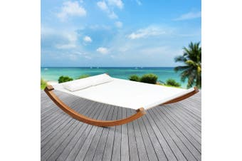 Gardeon  Timber Swinging Bed Outdoor Furniture Hammock Bed Wooden Stand