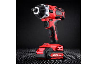 Giantz 20V Cordless Impact Driver Rechargeable Lithium Battery Electric Screwdriver Hex Tool