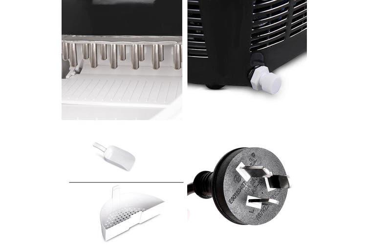 Devanti 2L Portable Ice Maker Commercial Machine Ice Cube Bar Countertop Black