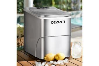 Devanti Portable Ice Maker Commercial Machine Ice Cube 2L  Bar Countertop Red