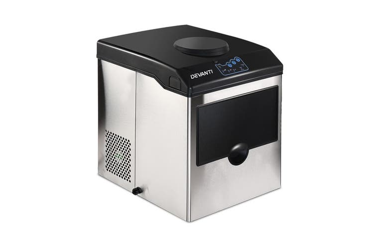 Devanti Commercial Ice Maker Portable Ice Cube Machine Water Dispenser Stainless