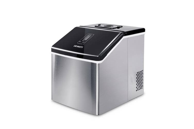 Devanti 3.2L Portable Ice Maker Commercial Ice Cube Machine Stainless Steel