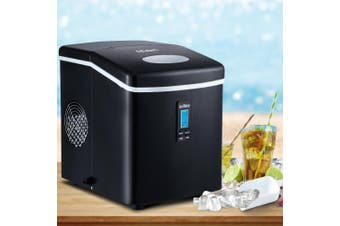 Devanti 3.2L Portable Ice Maker Commercial Machine Stainless Steel Ice Cube BK