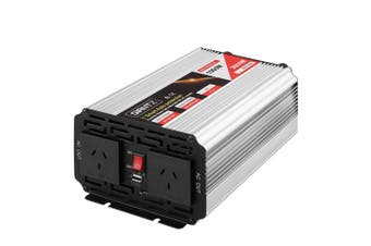 Giantz Power Inverter Pure Sine Wave 1000W/2000W Camping Boat Caravan 12V-240V
