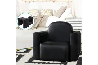 Keezi Kids Chair Sofa Recliner Children Table Desk Armchair Leather Couch Black