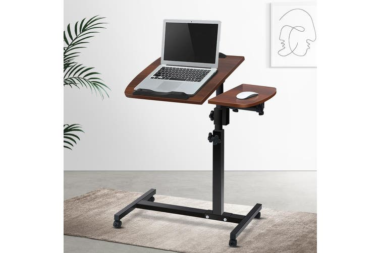 Artiss Mobile Laptop Desk Adjustable Notebook Computer iPad PC Stand Table Tray WALNUT