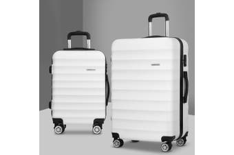 2pc Luggage Sets Travel Suitcases Set TSA Hard Case Free Scale