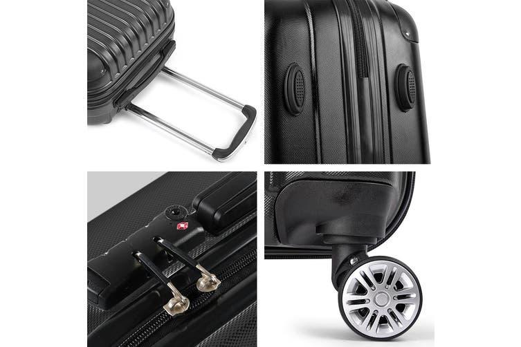 "24"" Luggage Sets Suitcase Trolley TSA Travel Hard Case Lightweight"