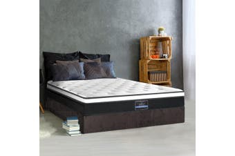 Giselle Bedding QUEEN Size Mattress Euro Top Bed Bonnell Spring Foam 21cm