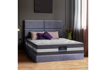 Giselle Bedding Queen Mattress Bed Size 7 Zone Pocket Spring Medium Firm Foam 30cm