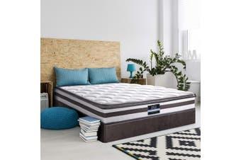 Giselle Bed Mattress KING Size Pillow Top Bonnell Spring Firm Plush Foam 21CM