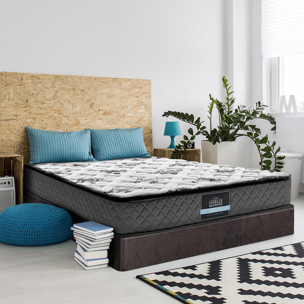 Giselle Single Size Mattress Bed Pillow Top Firm Foam Bonnell Spring 24cm Kogan Com