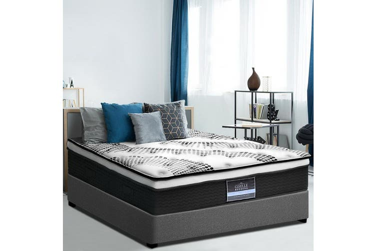 Giselle Bedding DOUBLE Mattress Bed Size Euro Top Pocket Spring Foam 32CM