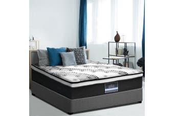 Giselle Bedding KING Mattress Bed Size Euro Top Pocket Spring Foam 32CM